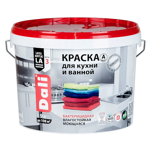 Краска DALI для кухни/ванной 9л.
