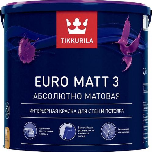 Краска Тиккурила EURO MATT 3 А