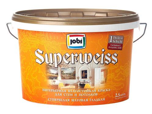 Краска JOBI SUPERWEISS L3 влагостойкая 2.5л.
