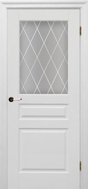 Межкомнатная дверь Гранд (Белая эмаль)