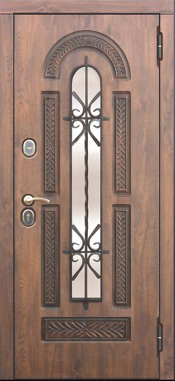 """Входная металлическая дверь """"Виконт"""" (Белая сосна)"""