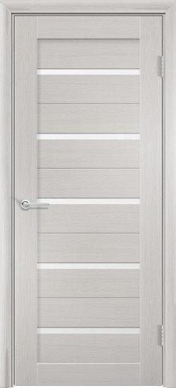 """Межкомнатная дверь S-1 (стекло """"Сатин"""") (Ясень, лист. крем., дуб дым., венге)"""