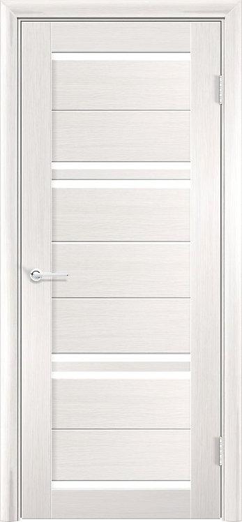 """Межкомнатная дверь S-16 (стекло """"Сатин"""") (Ясень, лист. крем., дуб дым., венге)"""