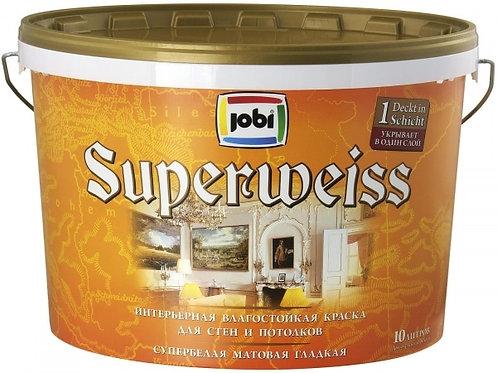 Краска JOBI SUPERWEISS L3 влагостойкая 10л
