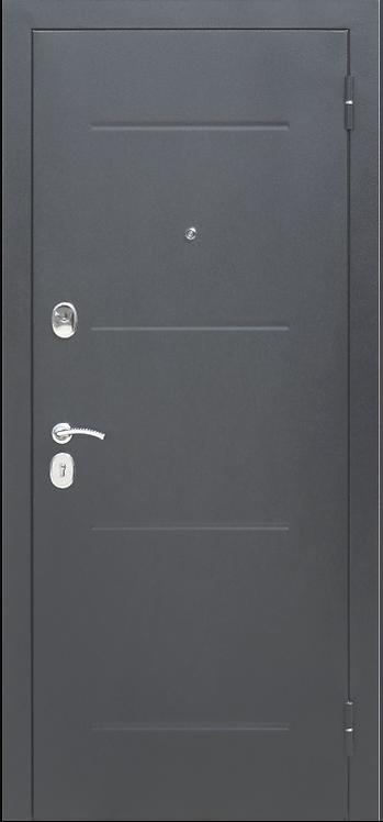 """Входная металлическая дверь """"Гарда"""" (Серебро Зеркало фацет Белый ясень; Венге)"""
