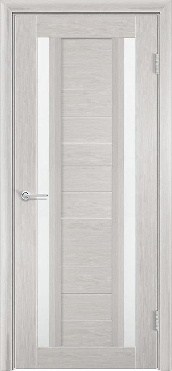 """Межкомнатная дверь S-6 (стекло """"Сатин"""") (Ясень, лист. крем., дуб дым., венге)"""