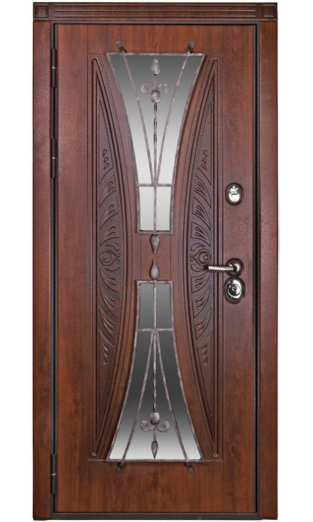 Входная двери Вернисаж (Дуб тёмный)