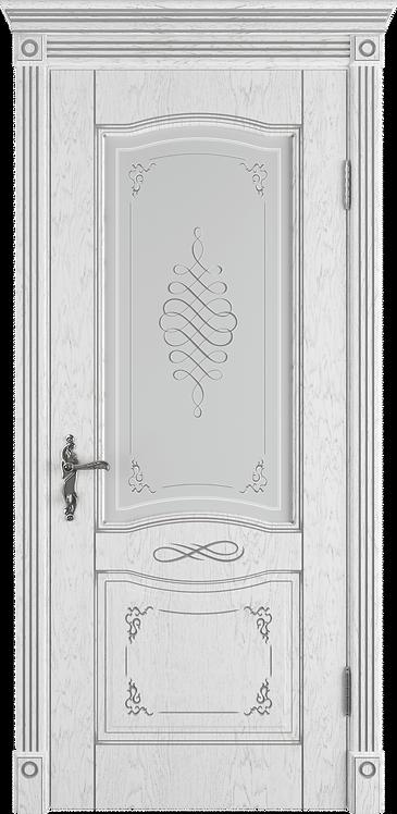 Межкомнатная дверь Веста (Остеклённое полотно) (Ivory PC, Bianco PG, Honey PB)
