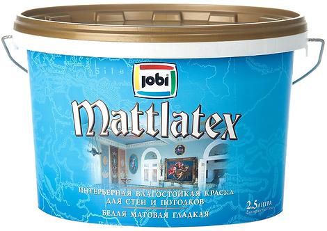 Краска JOBI MATTLATEX O4 влагостойкая 2,5л.