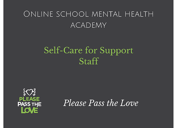 SMH Academy: Self-Care for Support Staff