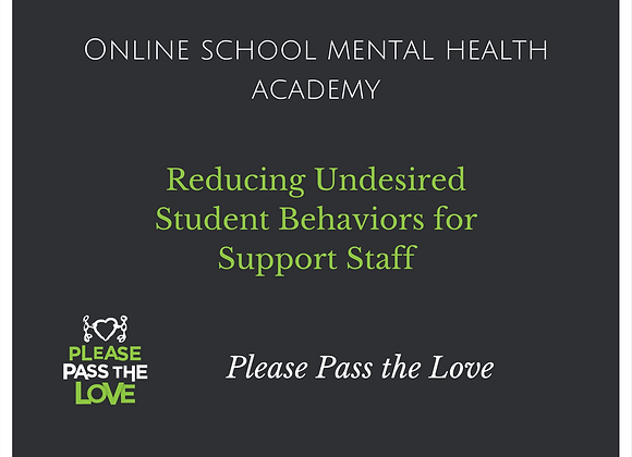 SMH Academy: Reducing Undesired Student Behaviors for Support Staff