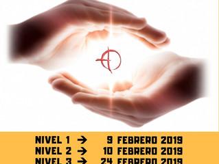 Cursos de Reiki. Todos los niveles. Febrero 2019
