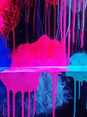UV Drip Painting at Bounce