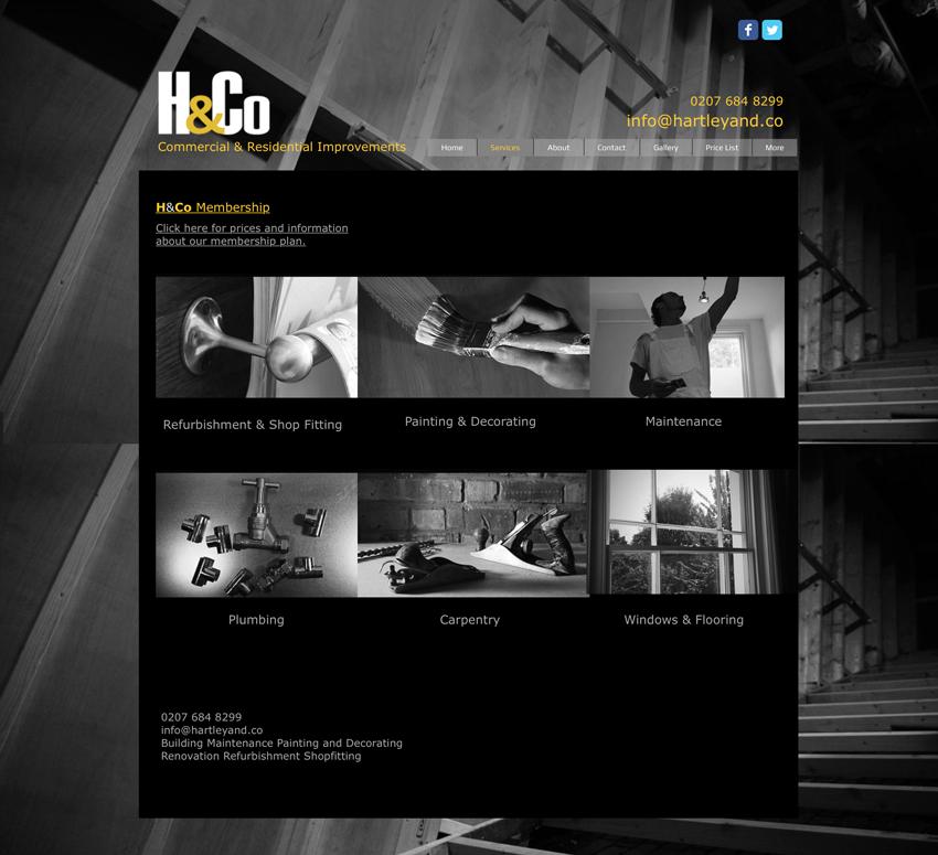 H&Co webpage 1