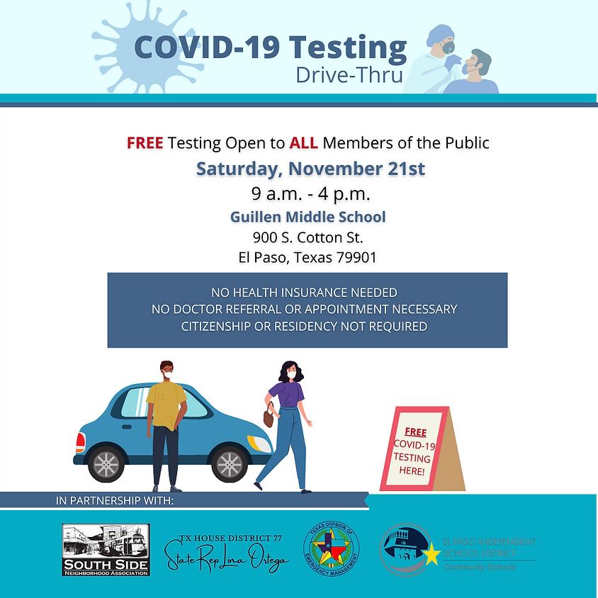 FREE Drive-Thru COVID19 Testing