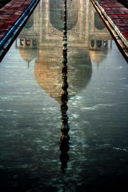 Taj in the water