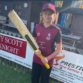 Henrietta's Cricket Success