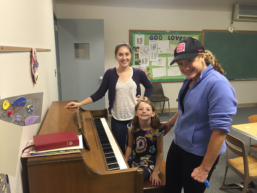 The first Musical Empowerment lesson at NC State with teacher Brianna and her student, Anna.