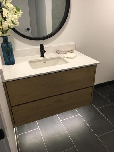 Bathroom sink with lighting