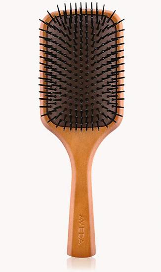 aveda wooden mini paddle brush