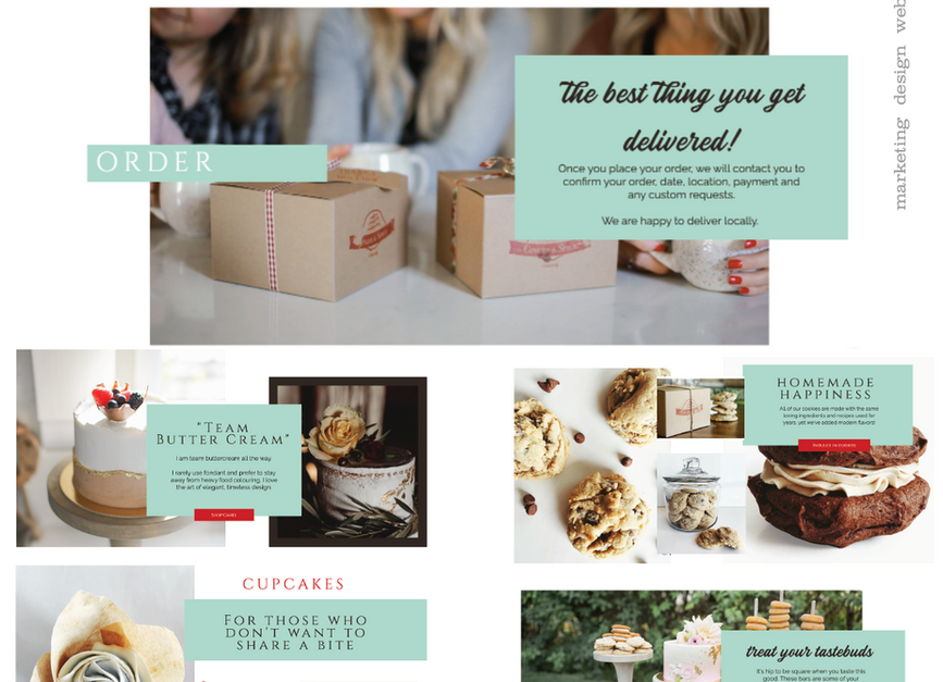 Ginger and Spice Cakery Website