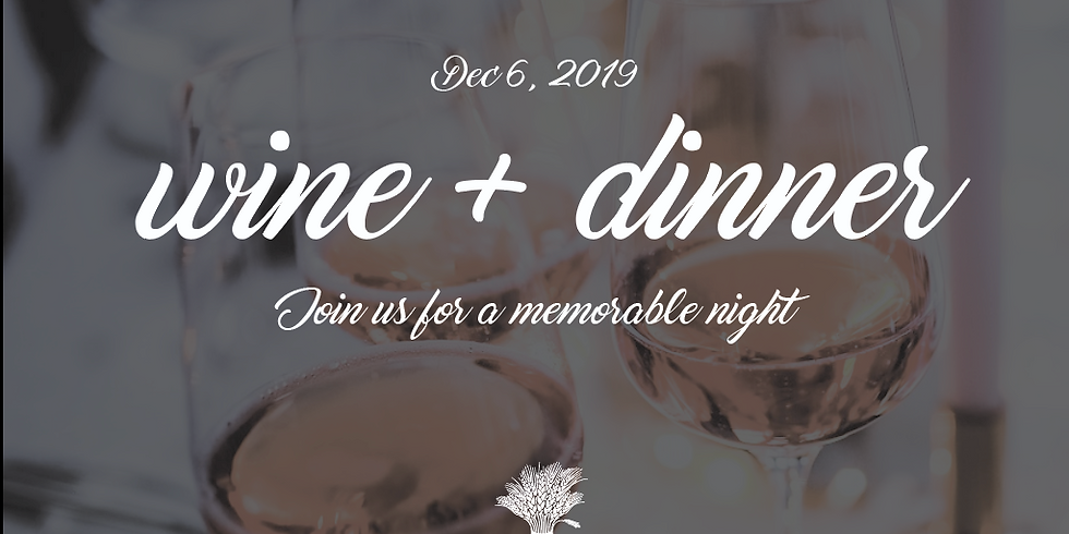 SOLD OUT -  Wine and Dinner Pairing Event $120