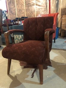 Burgundy MCM Chair