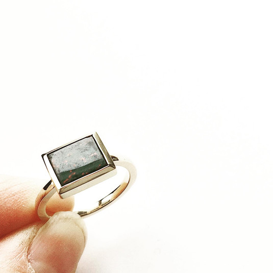 Custom Square Stone Ring