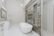 Bathroom Wood Feature Wall