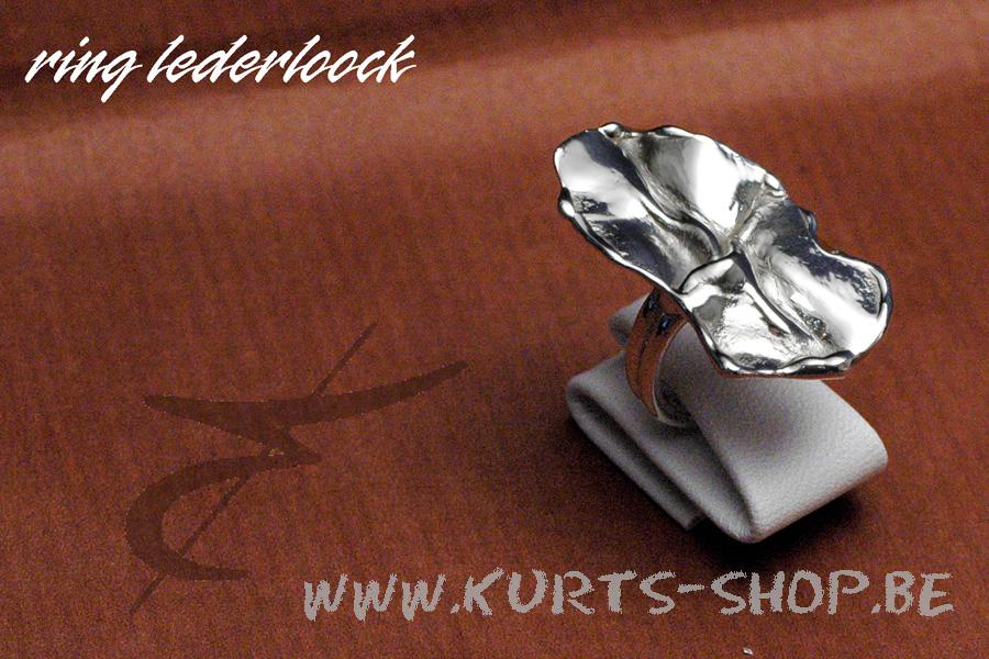 925 gietwerk VR 03 ring lederloock