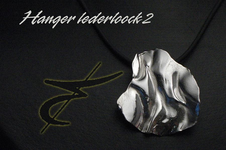 925 gietwerk VR 03 hanger lederloock