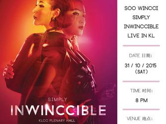 大马唱将·Soo Wincci 蘇盈之演唱会《SIMPLY INWINCCIBLE》