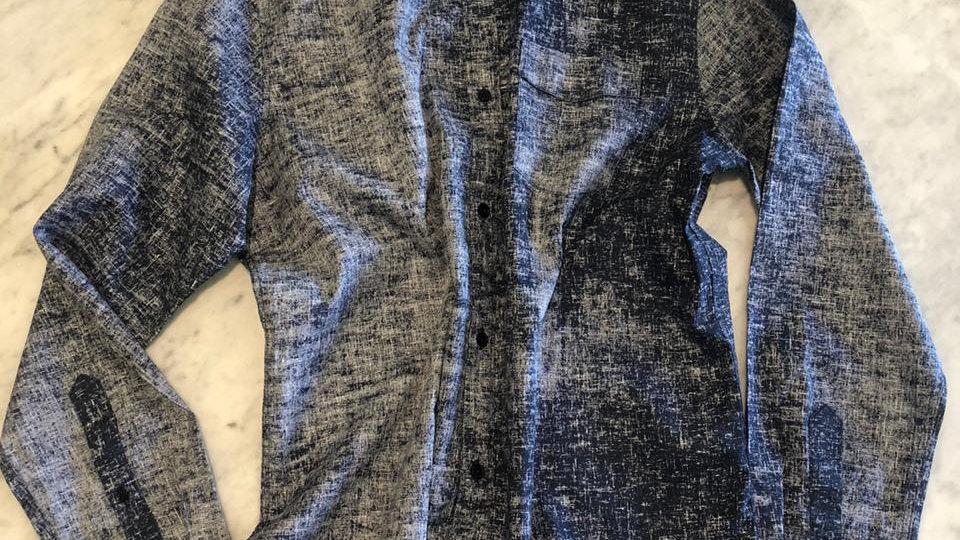 Camisa Linho Blue Ring