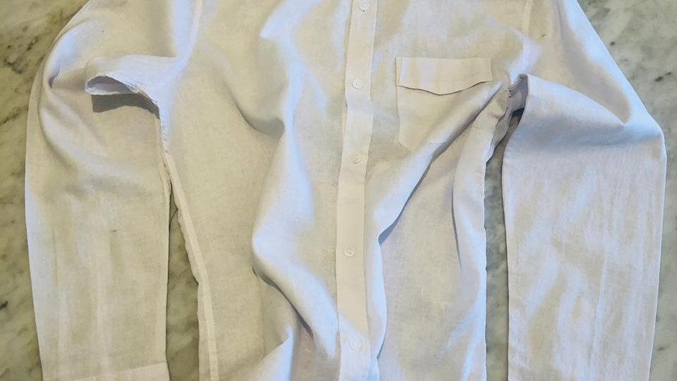 Camisa Linho Master Belgium White