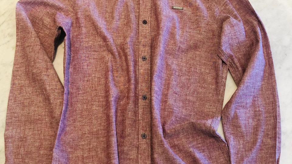 Camisa Linho Risca de Gis Rouge