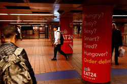 Eat24 Grand Central Station Takeover