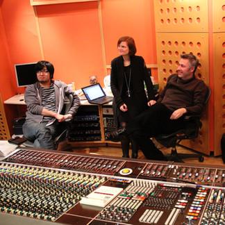 Angel Studios London with Neil Davidge and Kazuma Jinnouchi. Halo 4 recording session.