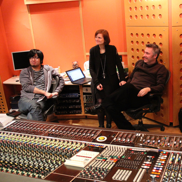 Angel Studios London with Neil Davidge and Kazuma Jinnouchi. Halo 4 recording session.