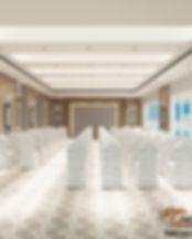 Banquet Hall design by Guru Interiors lu