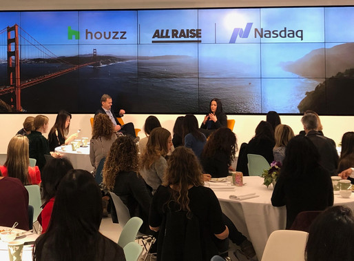 Houzz Teams with Nasdaq and All Raise to Advance Female Founders  on International Women's Day