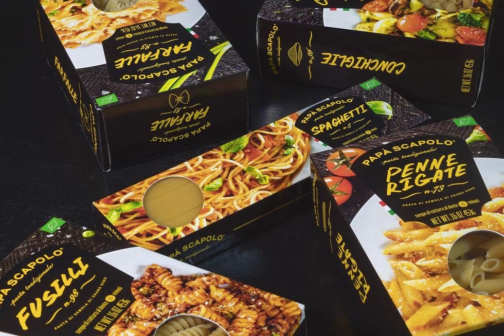 Креативная упаковка макароны Papà Scapolo от студии ЗБС БРЭНДС.