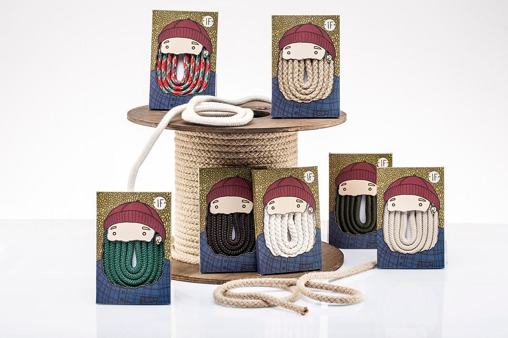Шнурки для сумок и рюкзаков IF. Дизайнер: Isabella de Felice (Милан, Италия)