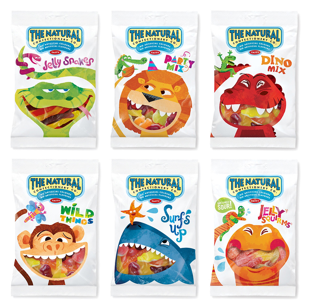 Конфеты The Natural Confectionery Co. Агентство: Pearlfisher (Великобритания)
