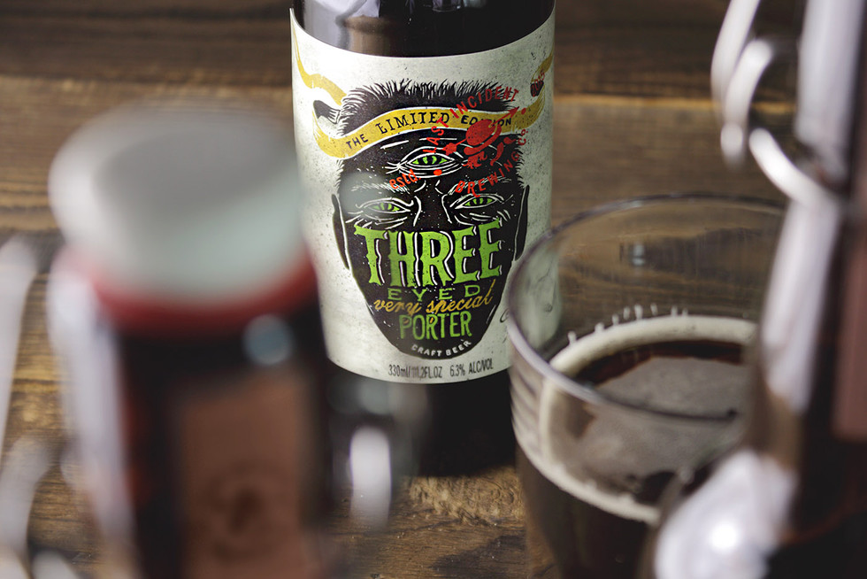 Creative packaging Last Incident Brewing Company beer Three eyed porter by ZBS BRANDS.
