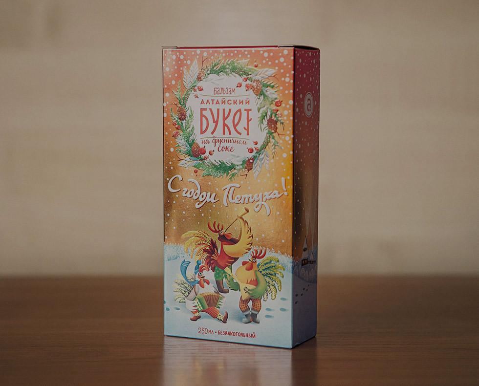 Altayski Buket balm new year packaging design