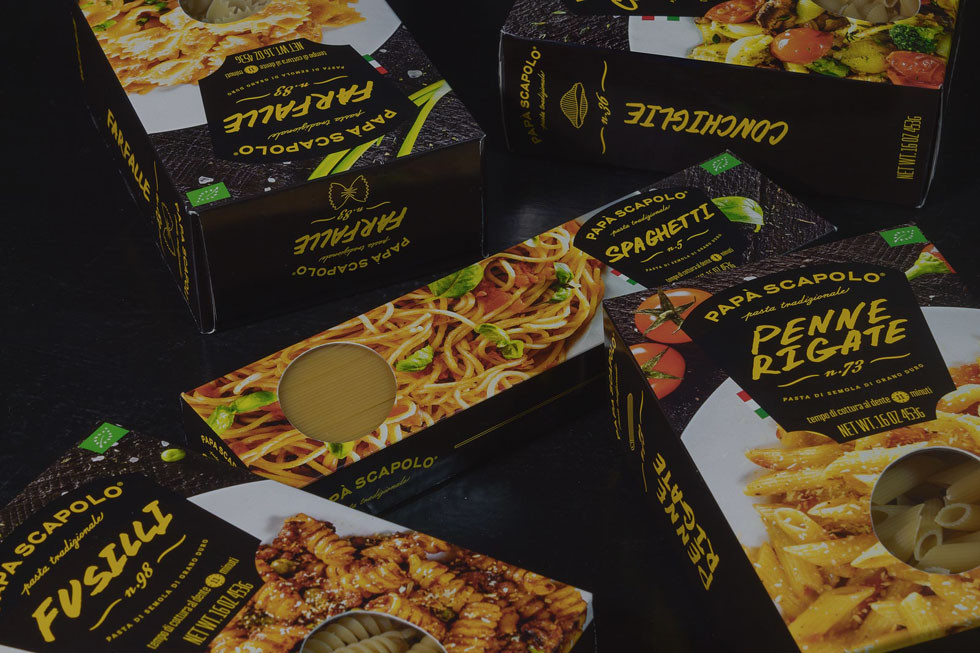 Papa Scapolo pasta branding packaging design ZBS BRANDS