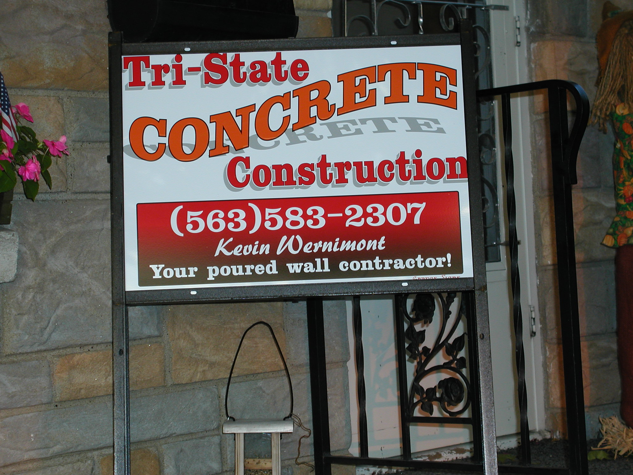 Tri-State Concrete Site Sign 2