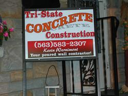 Tri-State Concrete Site Sign 2