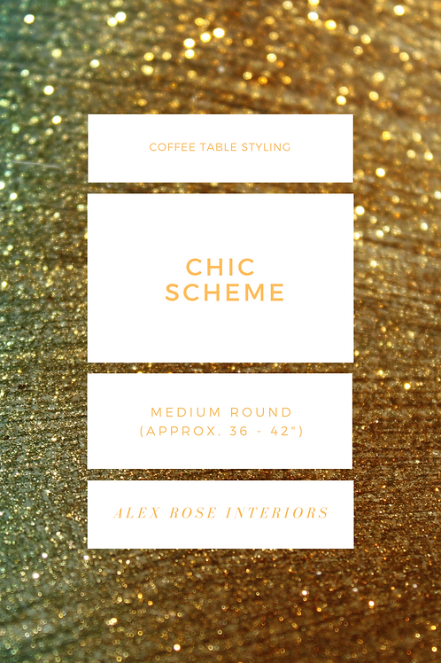 """Coffee Table Styling Ebook - Chic Scheme (36 to 42"""" Round)"""