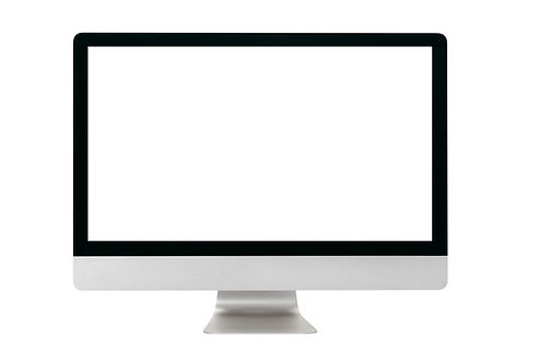 Computer monitor isolated on white backg